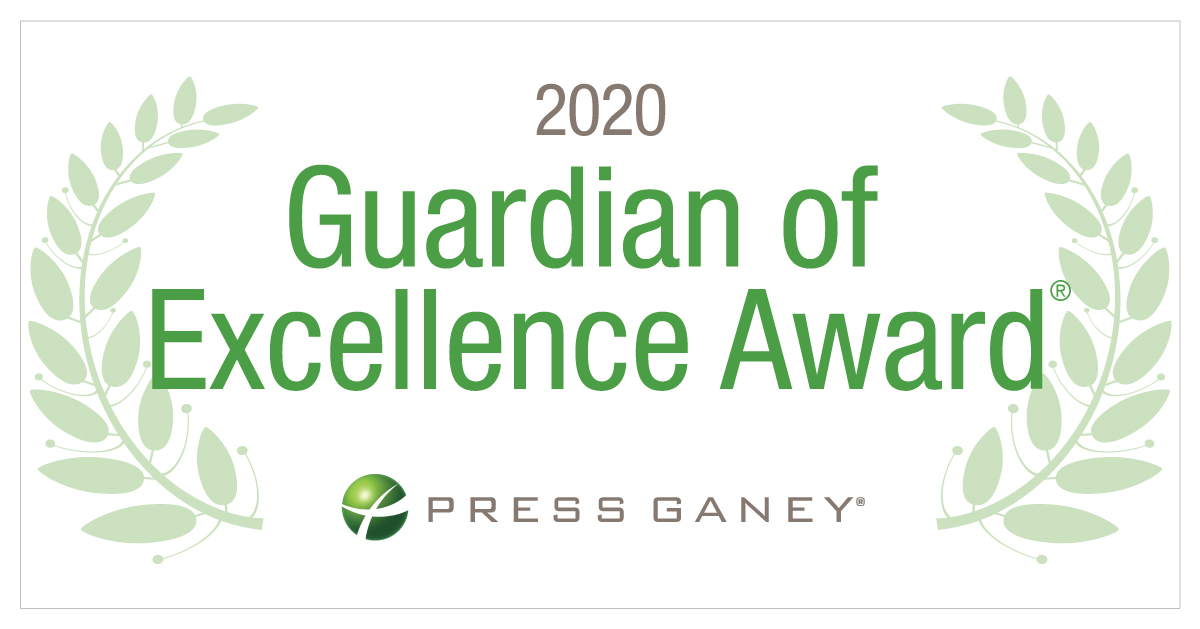 2020 Press Ganey Guardian of Excellence Award