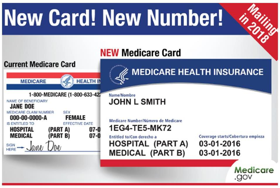 new medicare cards coming April 2018 to April 2019