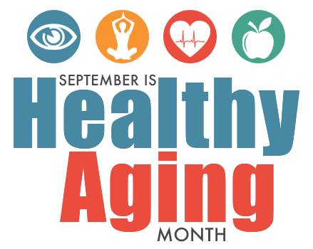 September is Healthy Aging Month logo