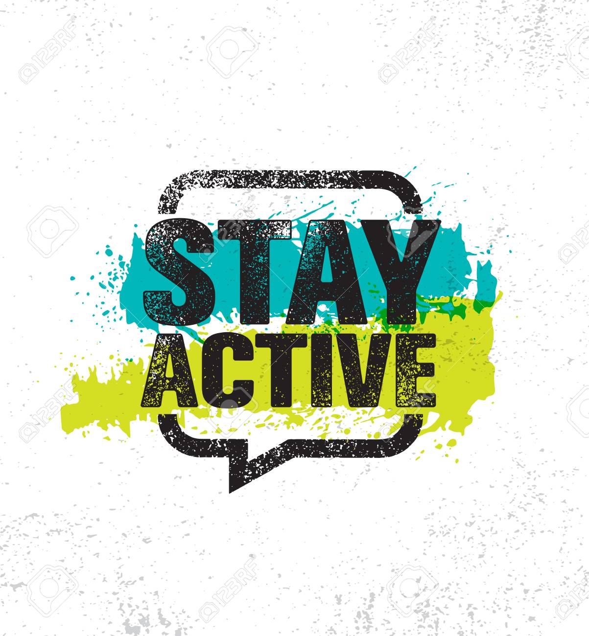 "Image with ""Stay Active"" text"