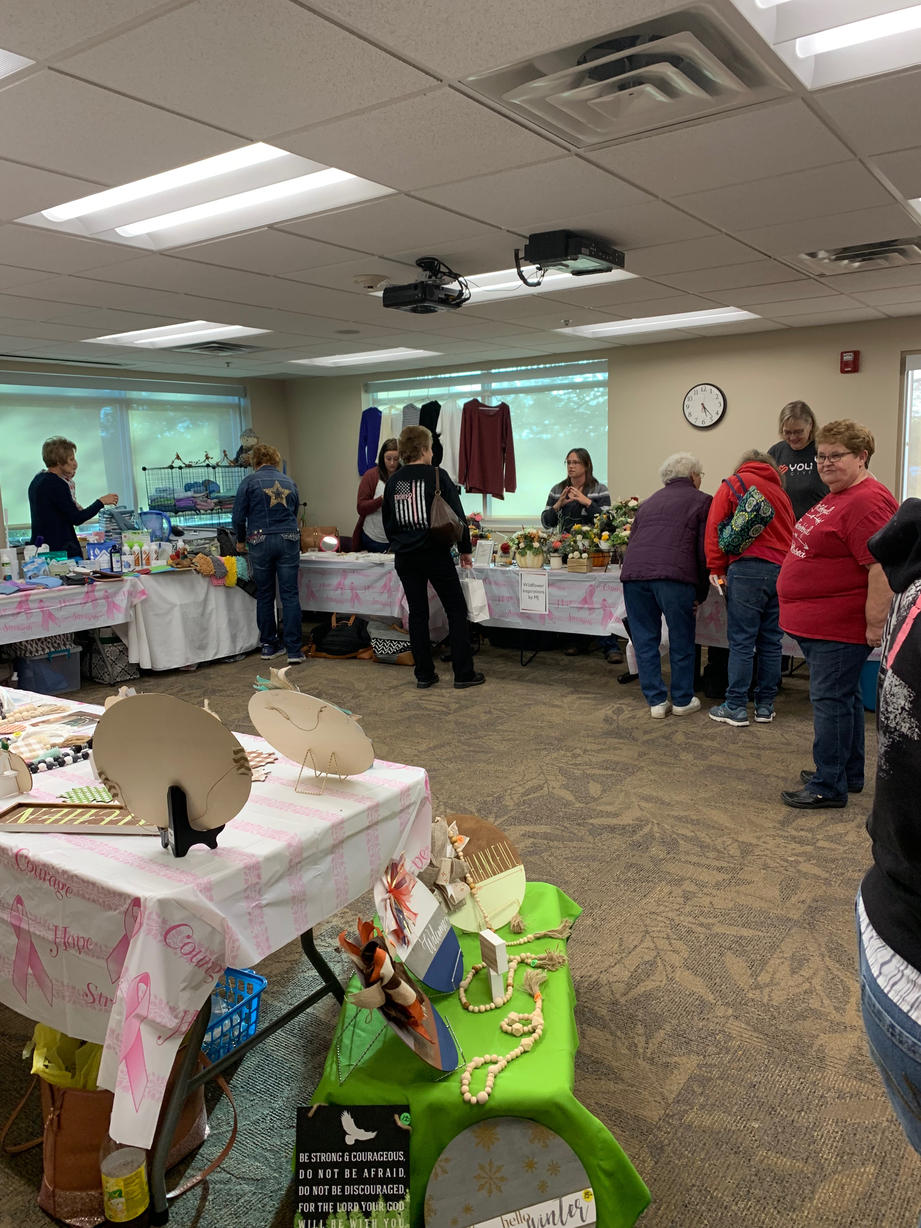 Shoppers enjoying products of 20 local vendors.